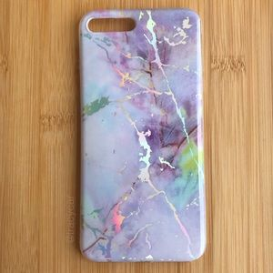 Accessories - NEW Iphone 7/8/7+/8+ Purple Marble Case